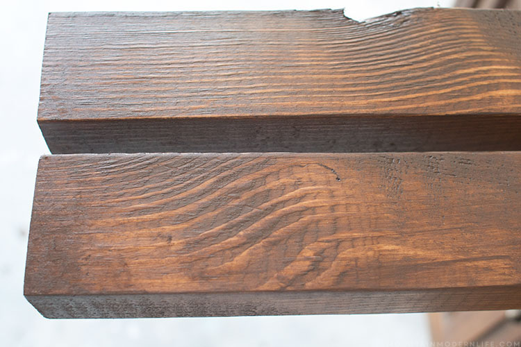 stained-wood-for-diy-wall-hanging-mountainmodernlife.com