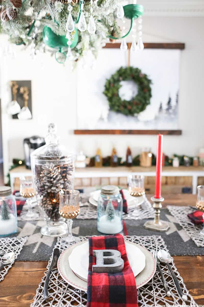 Rustic Cabin-Inspired Christmas Table Decor | MountainModernLife.com