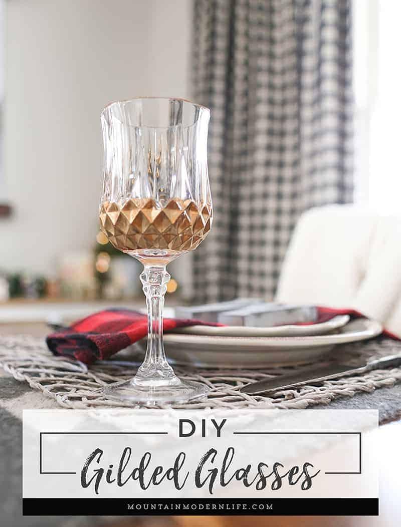 DIY Gilded Glasses