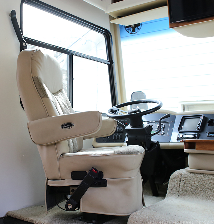 See how easy it is to remove RV Captain's Chairs so you can replace or move them temporarily for updates. | MountainModernLife.com