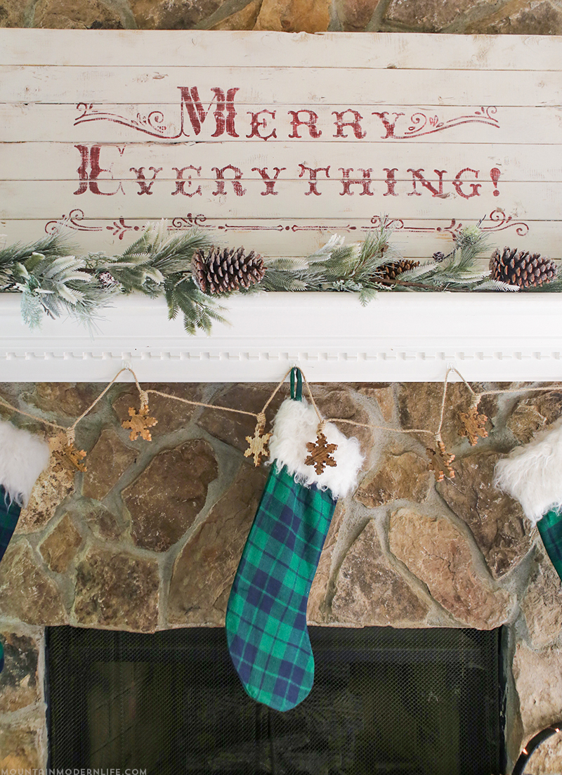 merry-everything-diy-rustic-vintage-christmas-sign-on-wood-mountainmodernlife.com