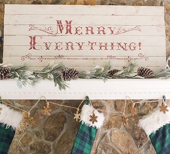merry everything diy vintage wood sign mountainmodernlife.com