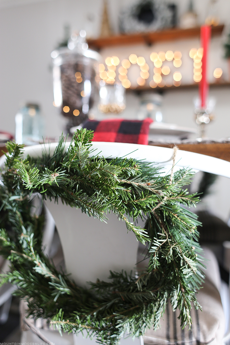 Come see how old and new are combined to create this cozy, cabin inspired Christmas tablescape. MountainModernLife.com