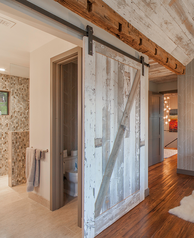 Sliding Barn Door for Master Bedroom | Kelly and Stone Architects