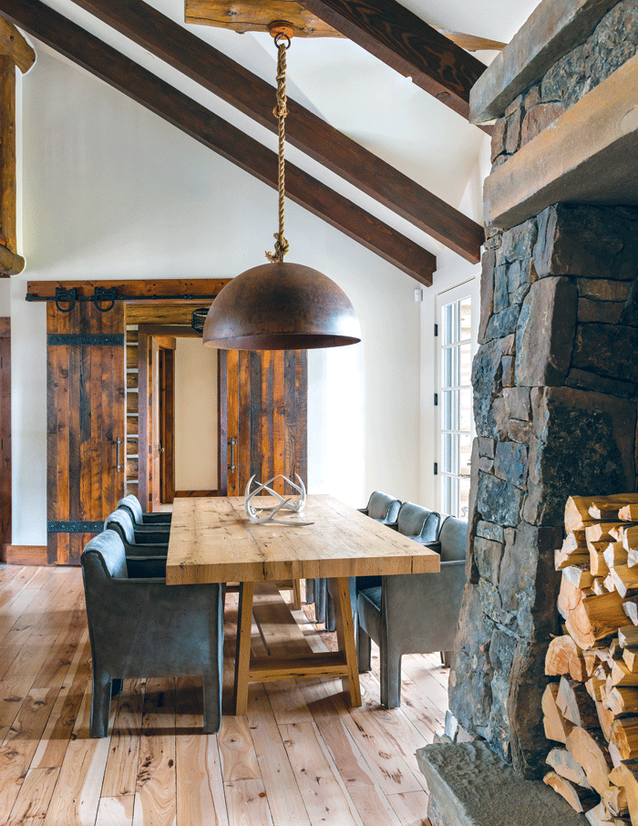 Rustic Montana Home with Sliding Barn Doors | Mountain Living/ Pearson Design Group