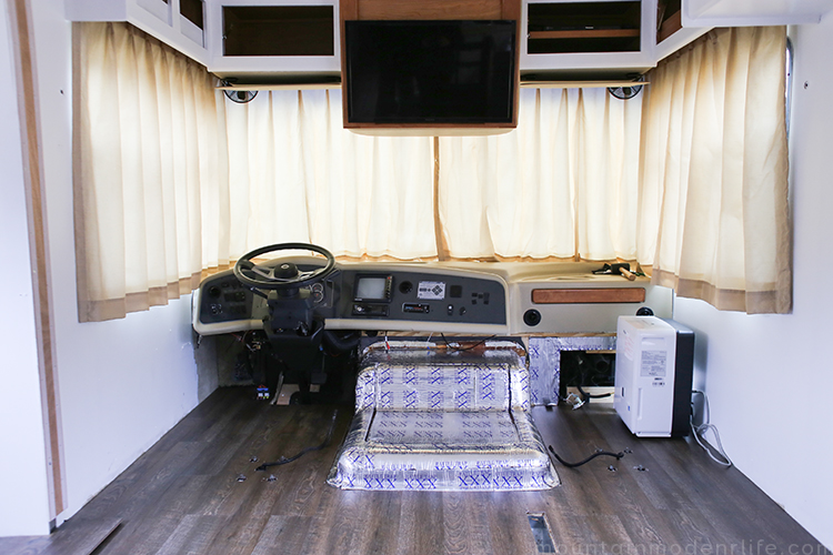 Take a look at the RV Renovation Week 2 Progress Update in our 2008 Allegro Tiffin Openroad 32LA | MountainModernLife.com