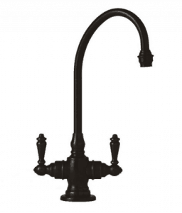Black-Kitchen-Faucet-Designs-Waterstone-Hampton-Suite-Bar-Faucet-with-Double-Level-Handles