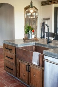 black-industrial-style-kitchen-faucet-with-copper-sink-from-fixerupper