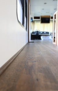 Picture of trim connecting wall to floor. MountainModernLife.com