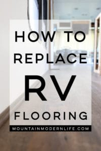 How to Replace RV Flooring - Come see how we removed the stained carpet and replaced it with vinyl plank flooring!