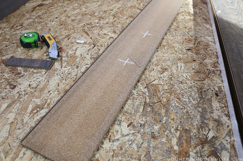 How we installed flooring inside our RV | MountainModernLife.com