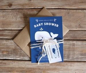 Nautical Whale Baby Shower Invitation | MountainModernLife.com