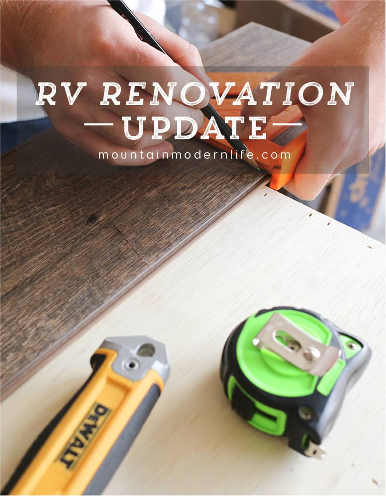 Follow along to see how the renovation process is going in our 2008 Tiffin Allegro Open Road 32LA. RV Renovation Progress Week 5 | MountainModernLife.com