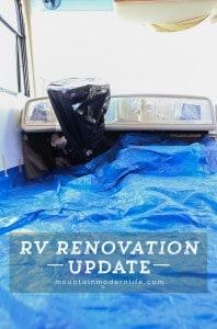 RV-renovation-update-painting-motorhome-dashboard-week7-mountainmodernlife.com