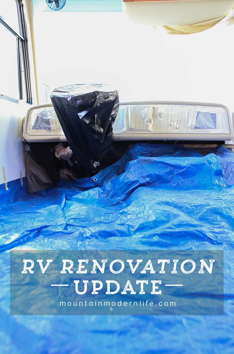 Follow along to see how the renovation process is going in our 2008 Tiffin Allegro Open Road 32LA. RV Renovation Progress Week 7 - Painting the Dashboard of our Motorhome | MountainModernLife.com
