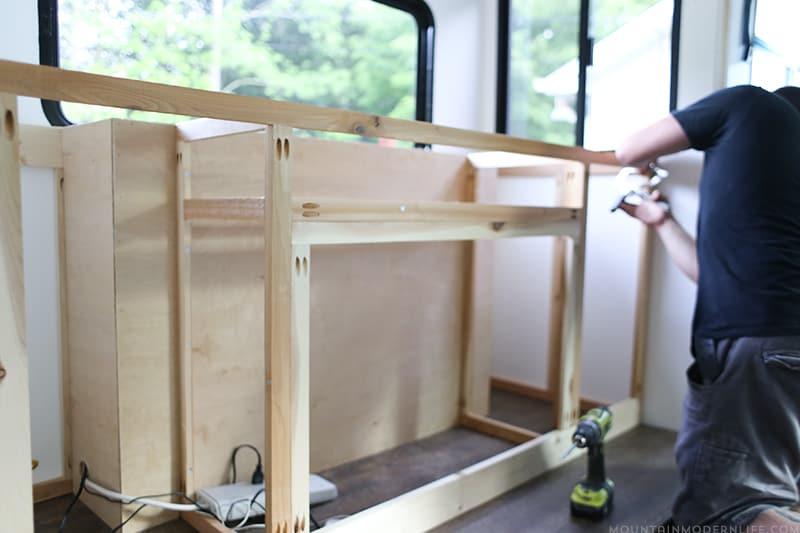 Building custom RV media cabinet