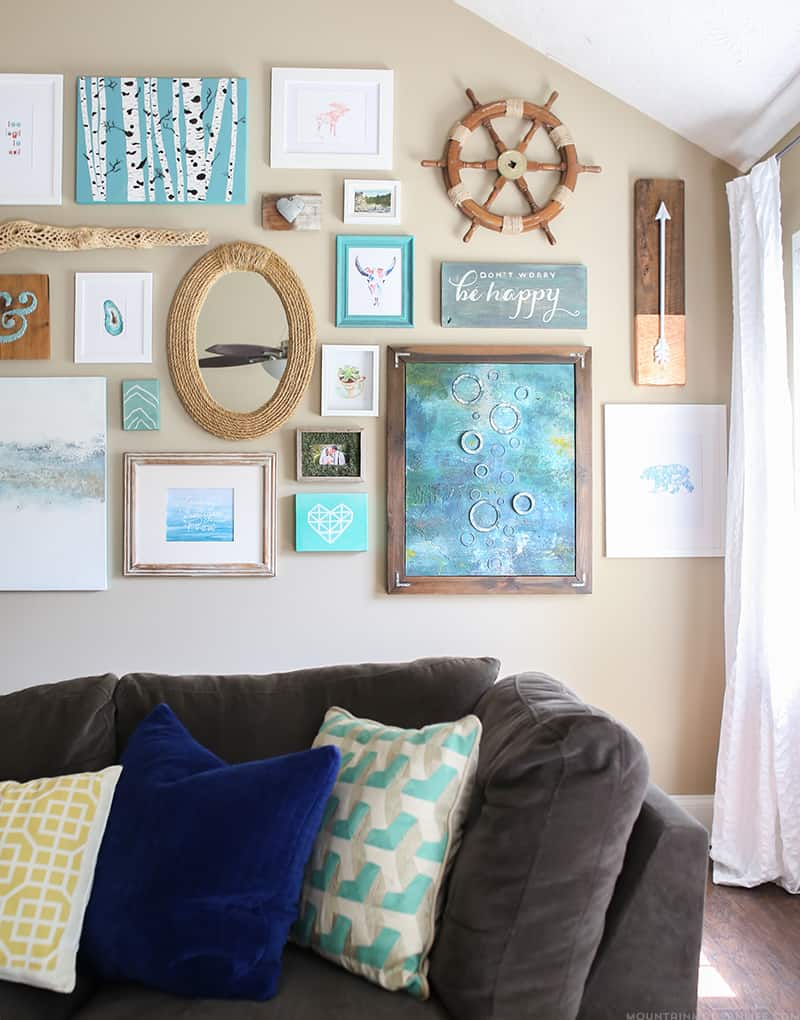 Looking for creative ways to display your photos and art? Here are 4 Tips for Creating a Gallery Wall, including what I would have done differently. | MountainModernLife.com
