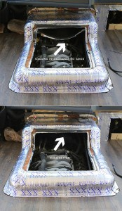 fixing-hanging-insulation-in-engine-cover-before-and-after-mountainmodernlife.com