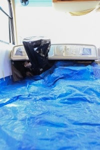 painting-dashboard-of-motorhome-for-easy-RV-update-mountainmodernlife.com