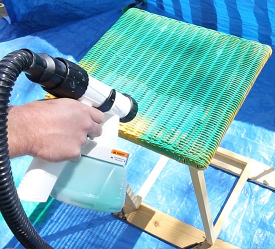 using-paint-sprayer-to-easily-paint-furniture-mountainmodernlife.com