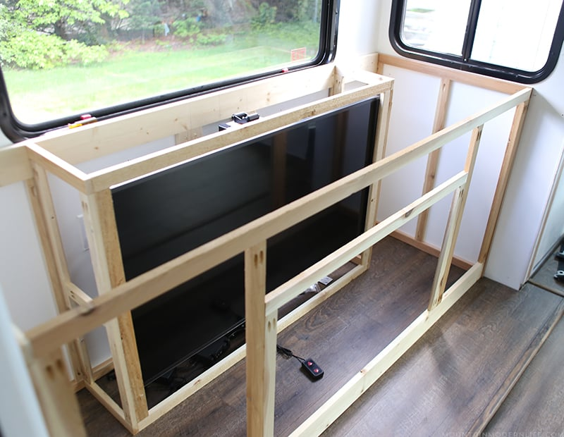 adding tv lift to RV