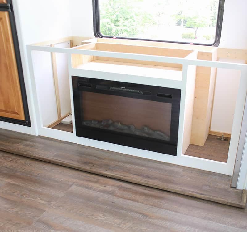 electric fireplace in RV