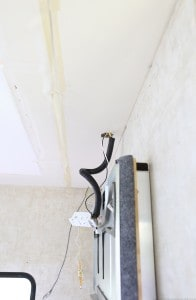 New Ceiling panel installed inside RV. MountainModernLife.com