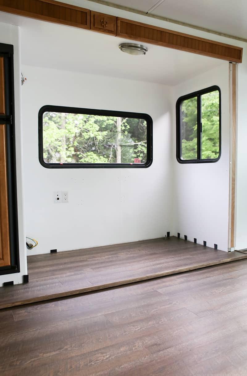 new flooring installed in RV