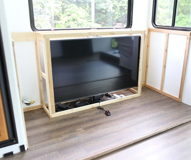 DIY cabinet for tv lift