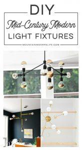 DIY Mid-Century Modern Light Fixtures   MountainModernLife.com