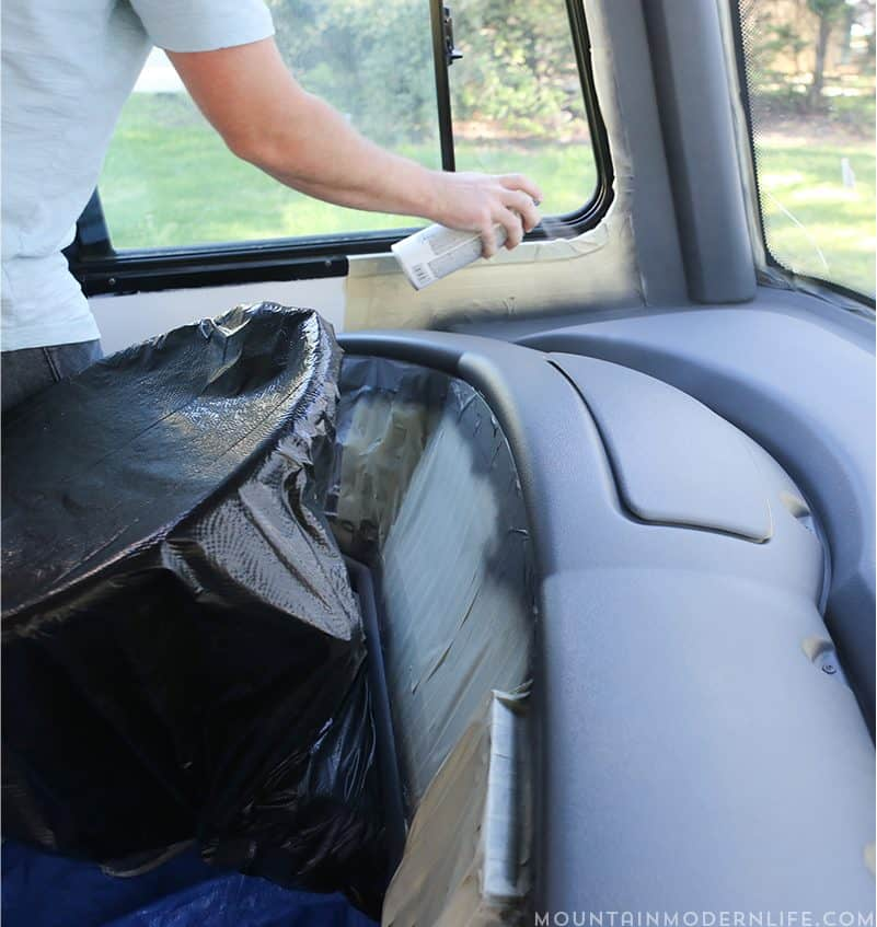 Thinking about painting the dash of your motorhome or vehicle? Come see how easy it is to update your RV dashboard! | MountainModernLife.com