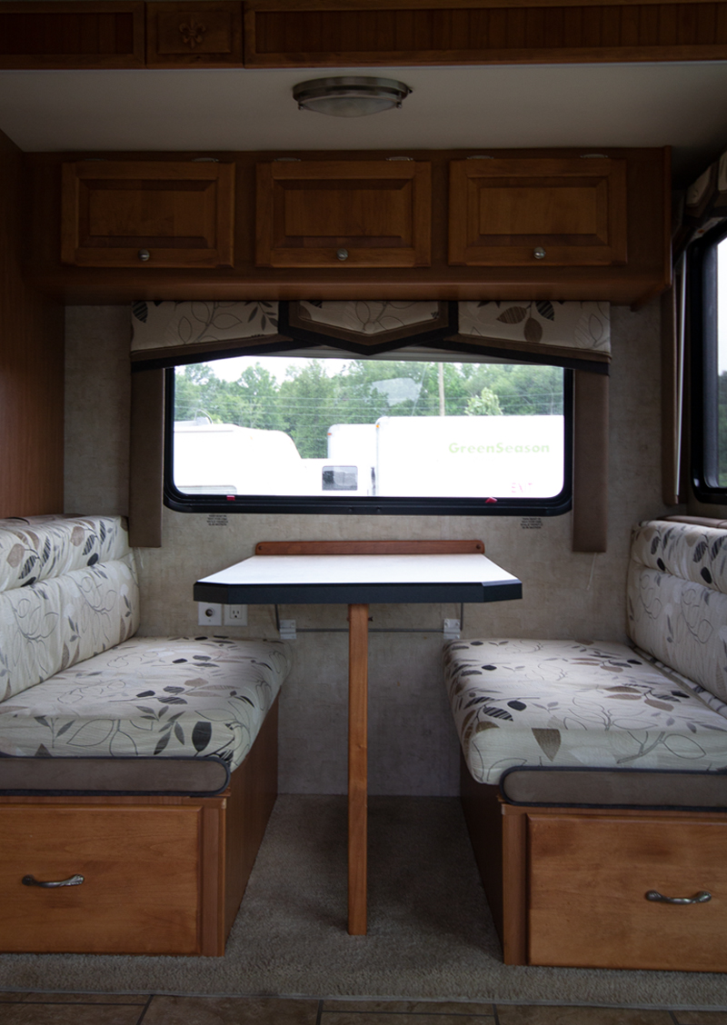 RV dining booth before
