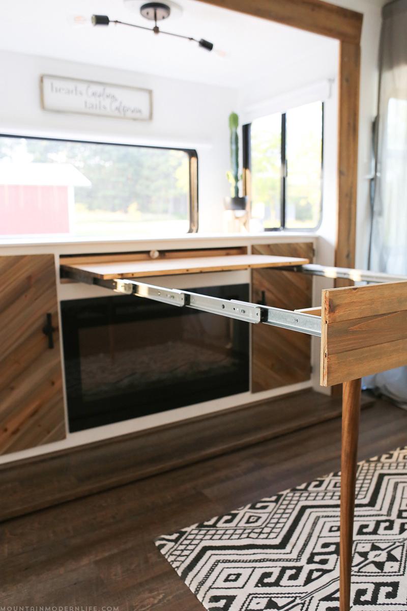 DIY desk in RV