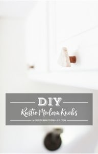 Save money while at the same time adding character to your home by creating these rustic modern DIY cabinet knobs! MountainModernLife.com