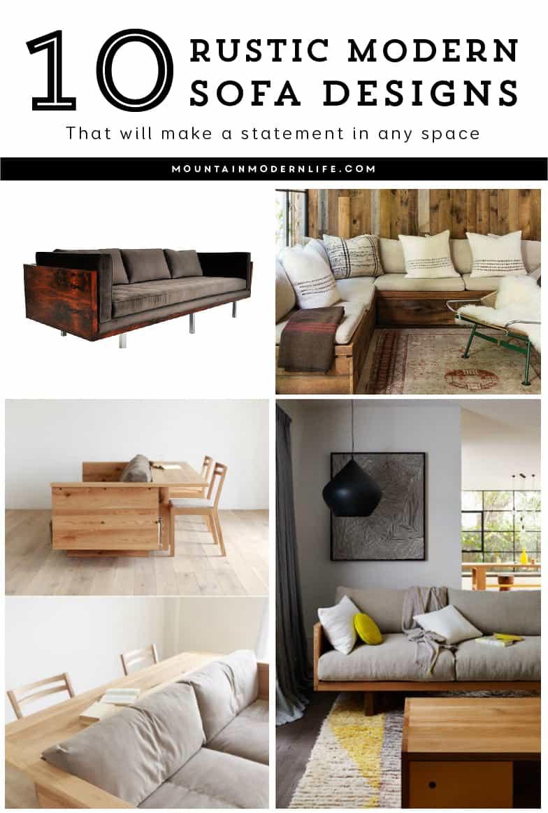 10 Rustic Modern Sofa Designs that Make a Statement