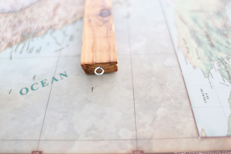 adding eye hooks to cedar board
