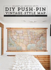 Document your Adventures with a DIY Push Pin Vintage-Style Map