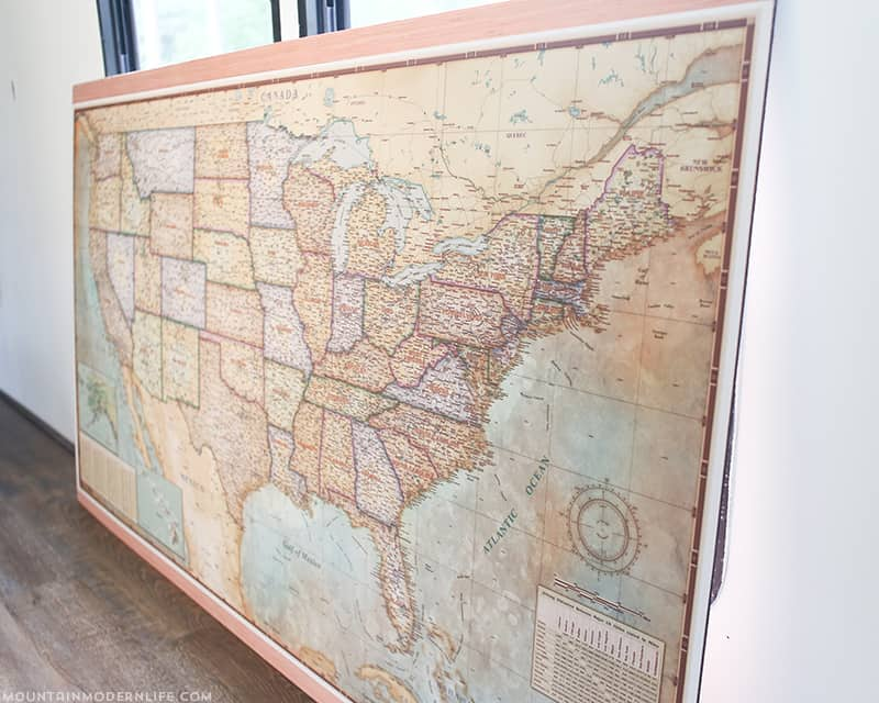 vintage-style US map