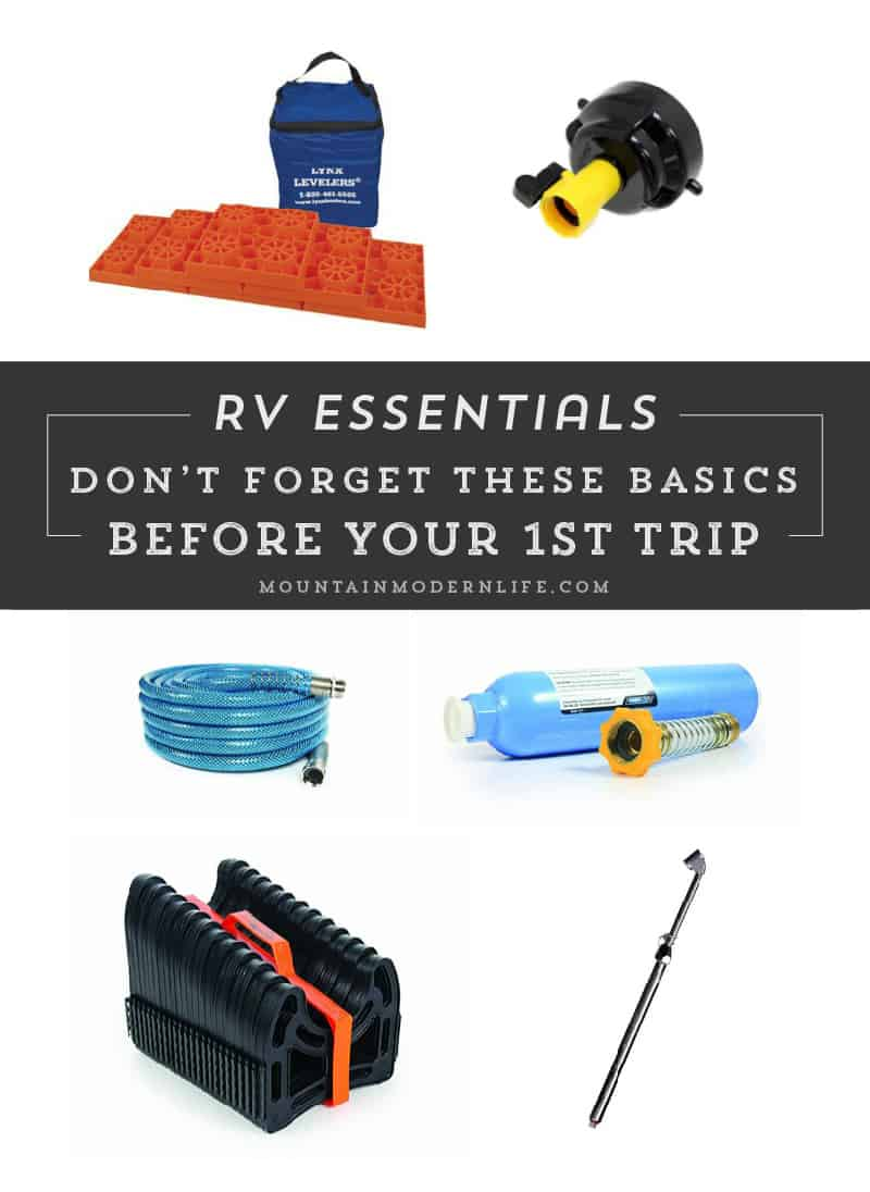 Planning to hit the road in your new RV, be sure to check out this list of RV essentials before make your first trip! MountainModernLife.com