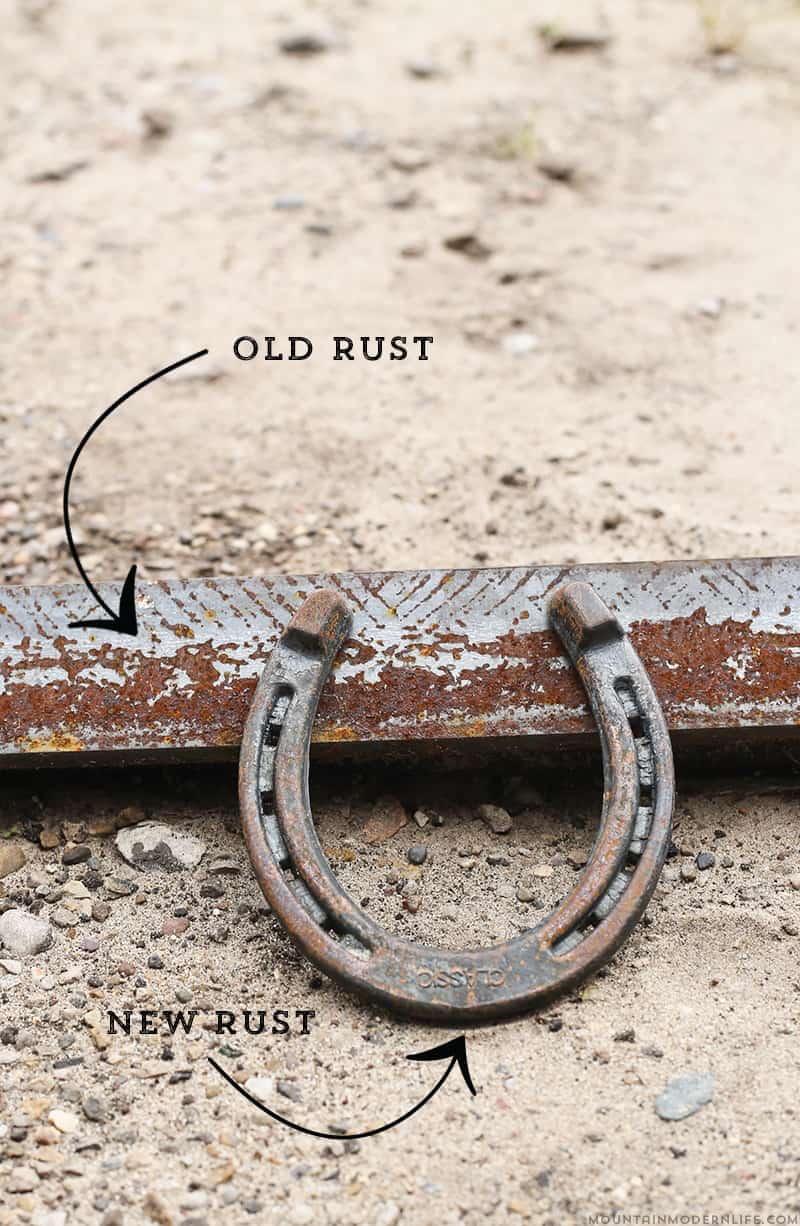 How to Make Metal Rust in Less than 10 Minutes - See how easy it is to create a rusty patina for an antique finish, using items you probably already have on hand. MountainModernLife.com