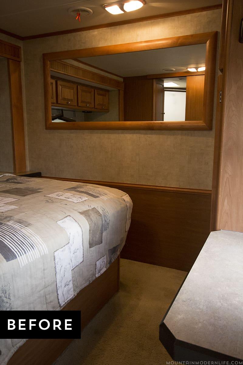 RV Bedroom Before Photo - MountainModernLife.com