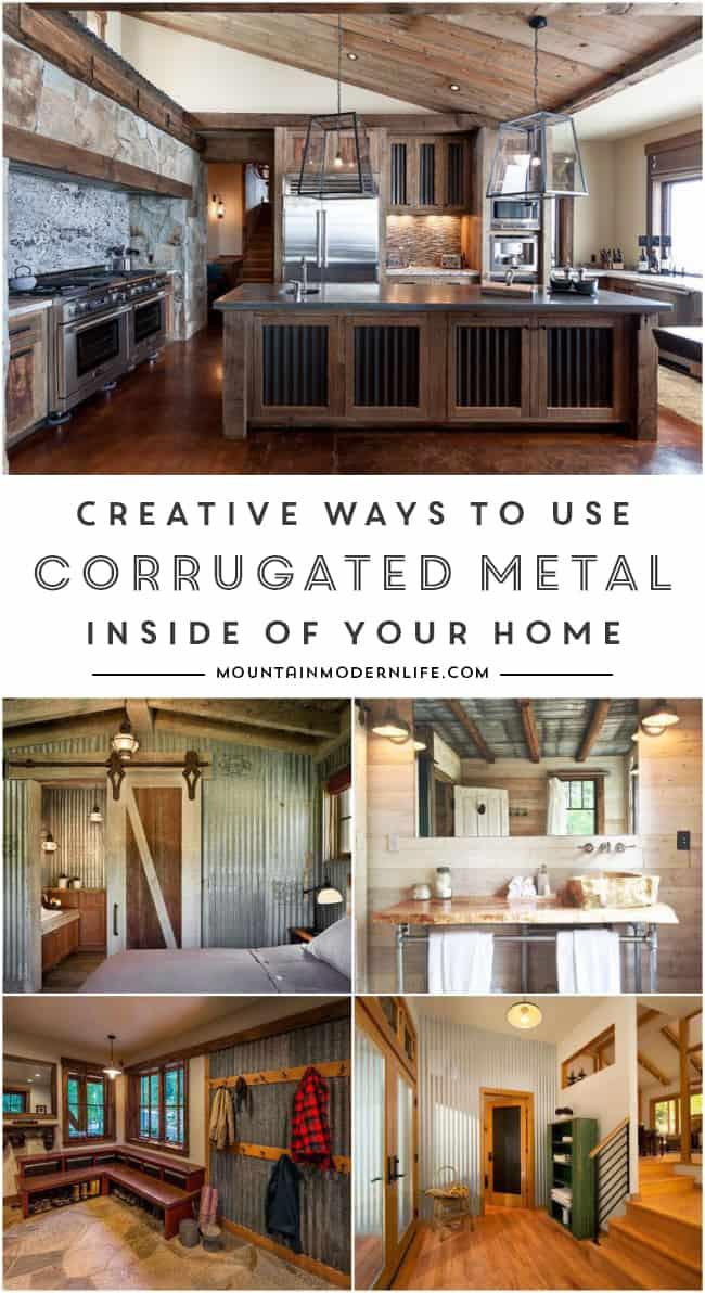 Ways to use Corrugated Metal in Interior Design