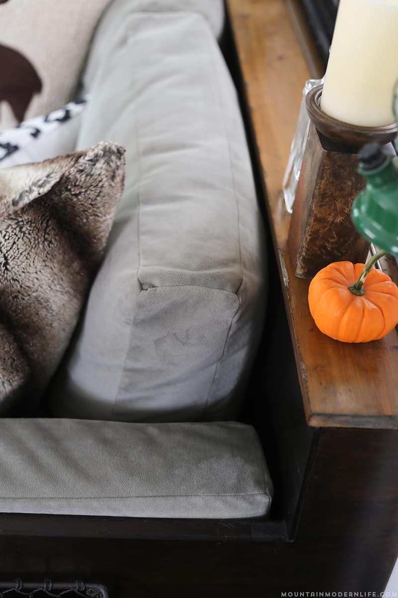 Whether you have a RV, tiny house, or tiny nook to fill, you should know that even tiny sofa's can have style and function like this small DIY sofa that was made for the inside of a RV.