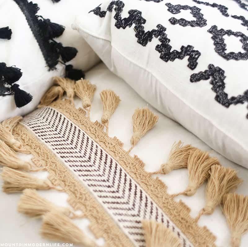 DIY No-Sew Pillows   MountainModernLife.com