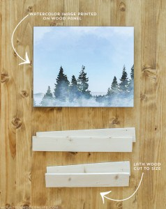 See how easy it is to create and customize your own wall art! This project is small and light, perfect for the inside of a RV or tiny home! MountainModernLife.com
