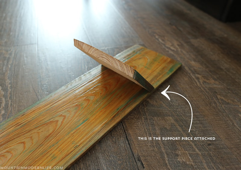 Looking for a project you can make from scrap wood? See how easy it is to create this Rustic Wall Sconce. MountainModernLife.com