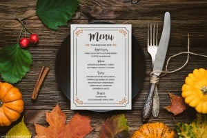 Planning to host Thanksgiving dinner for friends and family this year? Download and customize this FREE Printable Thanksgiving Menu!