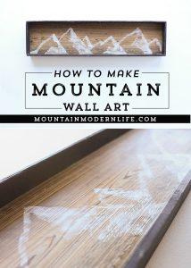 How to make mountain wall art   MountainModernLife.com