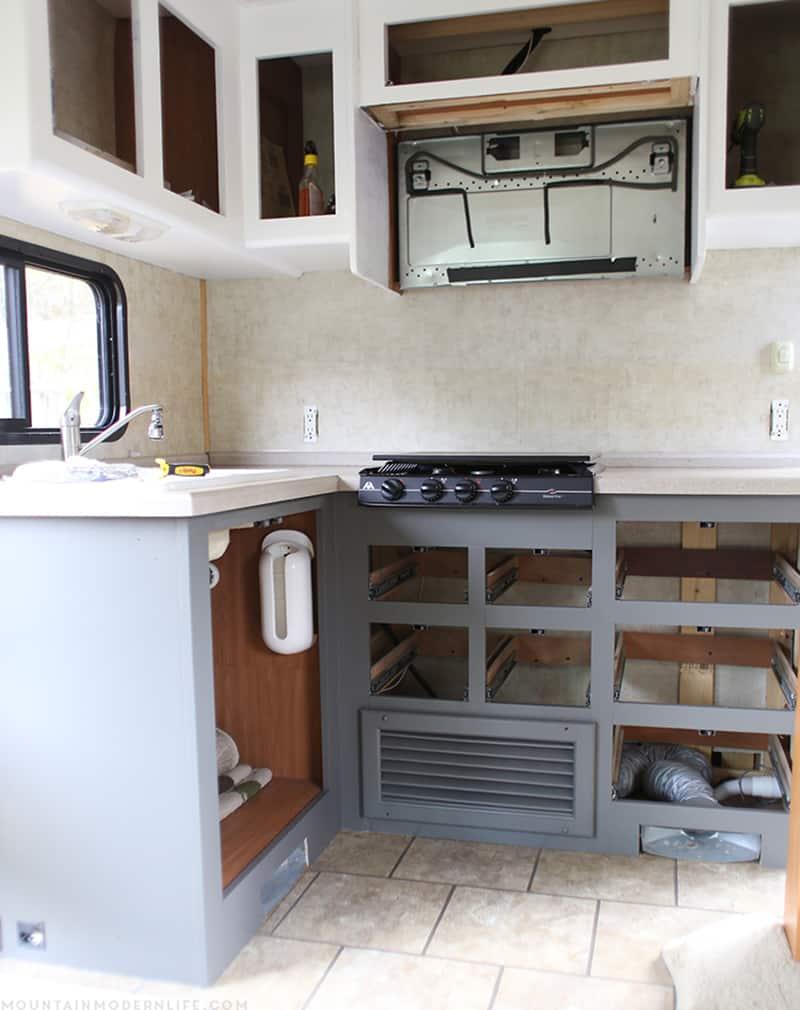 renovating RV kitchen