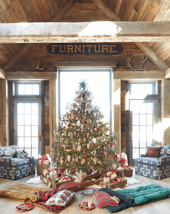 25 of the Most Inspiring Rustic Christmas Trees - Rustic Farmhouse Christmas Tree   Country Living